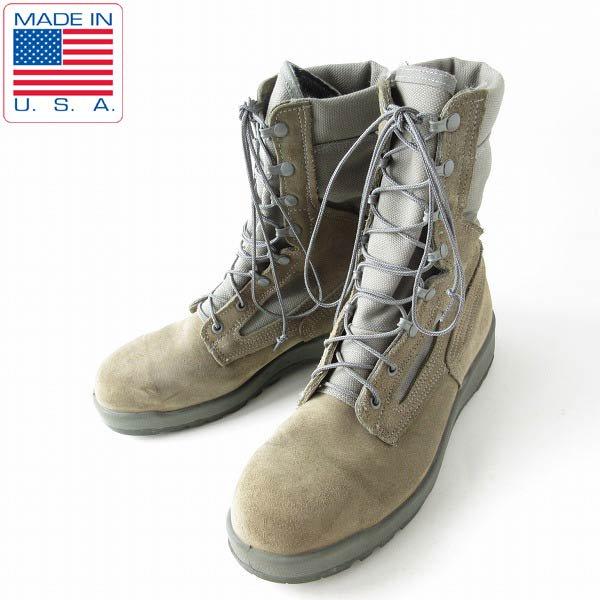 USA製/BELLEVILLE/米軍/USAF/レザー×ゴアテックス/ミリタリーブーツ【9R/27cm】コンバットブーツ/米空軍/靴/D143