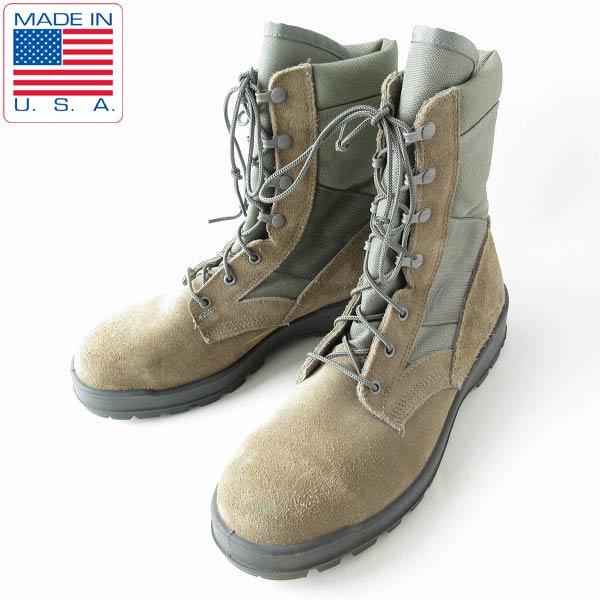 USA製/実物/米軍/UFCW/スチールトゥ/コンバット ブーツ【10.5W/幅広28.5cm】ミリタリー/アメリカ軍/サバゲー/靴/D143