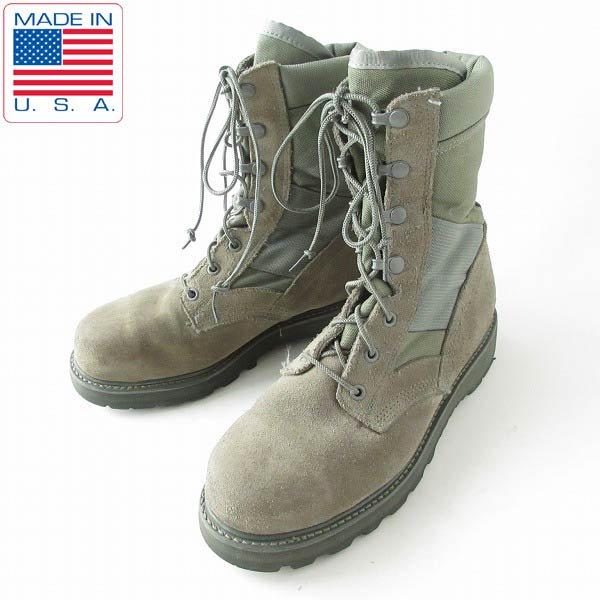 USA製/実物/米軍/UFCW/スチールトゥ/コンバット ブーツ【7XW/幅広25〜25.5cm】ミリタリー/サバゲー/靴/D143