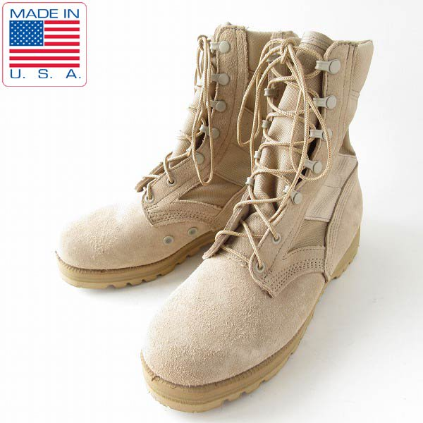 美品/USA製/実物/米軍/ALTAMA/デザートブーツ/TAN【幅広25〜25.5cm】ミリタリーブーツ/ベージュ系/サバゲー/靴/D143