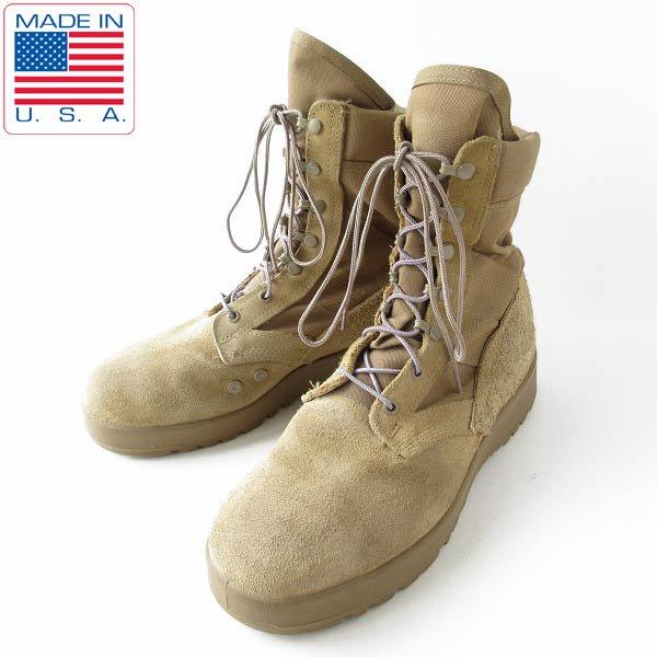 USA製/実物/米軍/US ARMY/ホットウェザー/コンバットブーツ/コヨーテ【10W/幅広28〜28.5cm】ミリタリー/D143