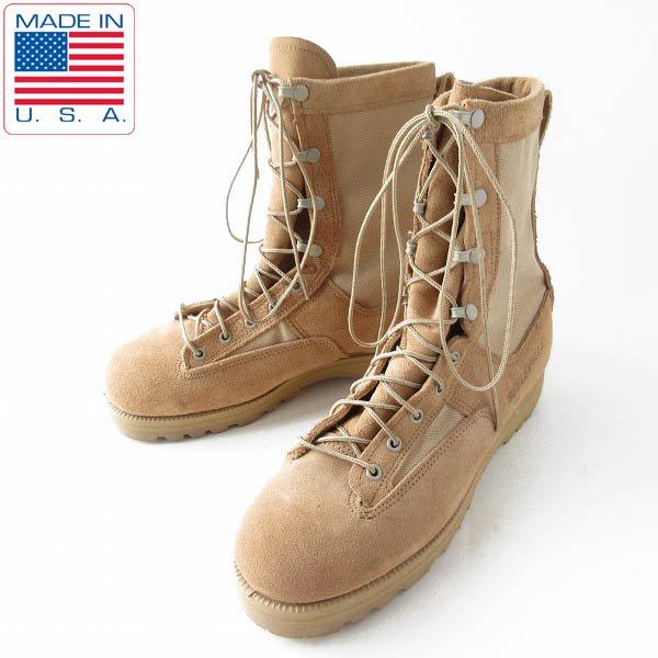 美品/USA製/BELLEVILLE/米軍/レザー×ゴアテックス/コンバット ブーツ【27cm】ミリタリーブーツ/サバゲー/靴/D143