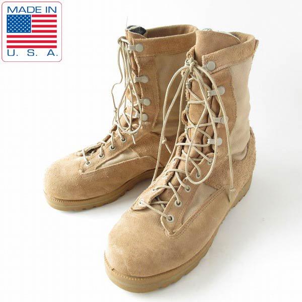 USA製/BELLEVILLE/米軍/レザー×ゴアテックス/コンバット ブーツ【8.5W/幅広26.5cm】ミリタリーブーツ/サバゲー/靴/D143