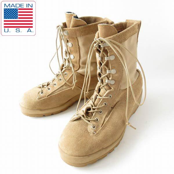 USA製/McRae/実物/米軍/レザー×ゴアテックス/コンバット ブーツ/TAN【8W/幅広26〜26.5cm】ミリタリー/靴/D143