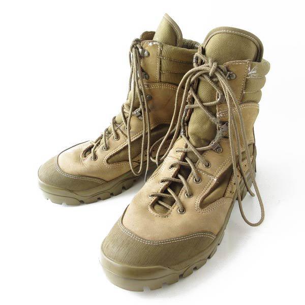 実物/米軍/BATES/マウンテン コンバットハイカー ブーツ【10.5W/幅広28.5cm】オリーブ系/ミリタリーブーツ/靴/D143