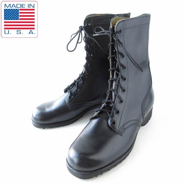 新品/60's/USA製/実物/米軍/コンバットブーツ/黒【9R/27cm】レースアップブーツ/ビンテージ/デッドストック/靴/D143