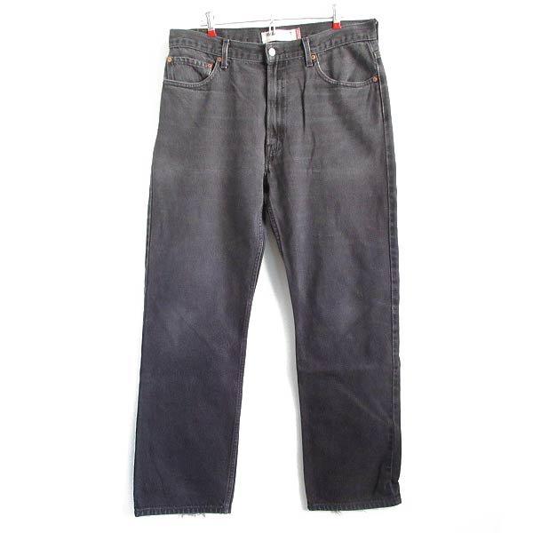 後染め黒/リーバイス505ブラックジーンズ【W36】ヒゲ落ち/サルファブラック/スーパーブラック/ハイチ製/D143