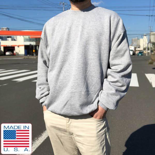 新品/90's/USA製/SOFFE/スウェット/杢グレー系【XL】トレーナー/ビッグシルエット/アメリカ製/ビンテージ/デッドストック/D143