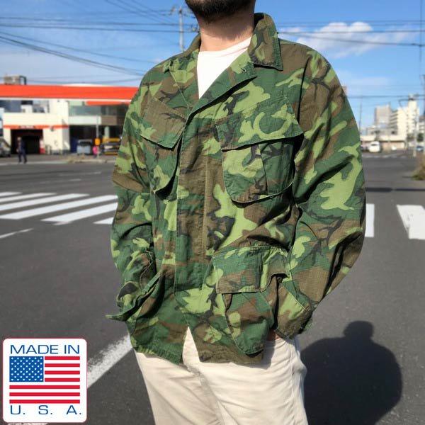 美品/60's/USA製/実物/米軍/ジャングルファティーグ ジャケット/4th/ERDL/迷彩【M-S】リーフカモ/アメリカ製/ビンテージ/D143