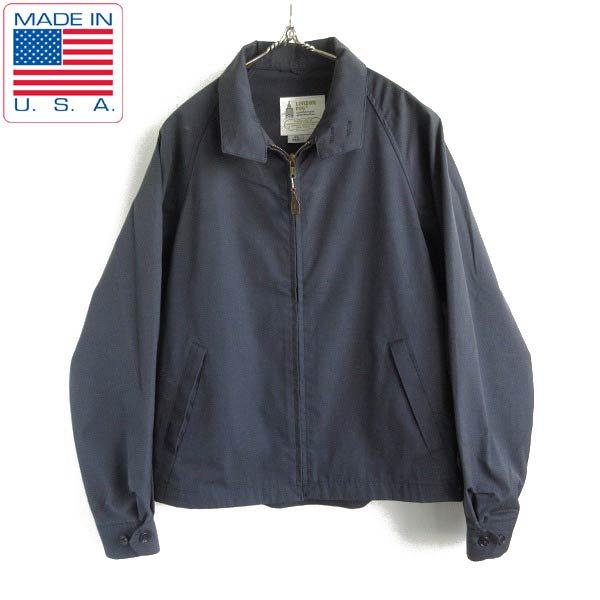 一枚袖/60's/USA製/LONDON FOG/ロンドンフォグ/ドリズラー/ジャケット/紺系【40REG】スウィングトップ/IVY/ビンテージ/D143