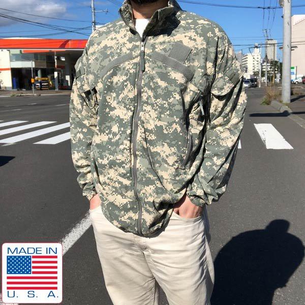 USA製/実物/米軍/ACU/ECWCS/GEN3/LEVEL4/デジカモ/迷彩ジャケット【S-M程度】アメリカ軍/ライトウィンドブレーカー/D143