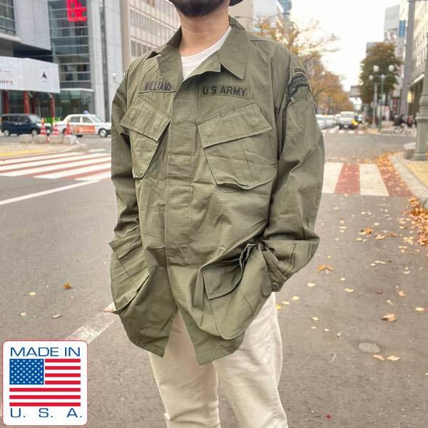 新品/希少/60's/USA製/実物/米軍/ジャングルファティーグ ジャケット/4th【L-L】第2レンジャー大隊/デッドストック/D143