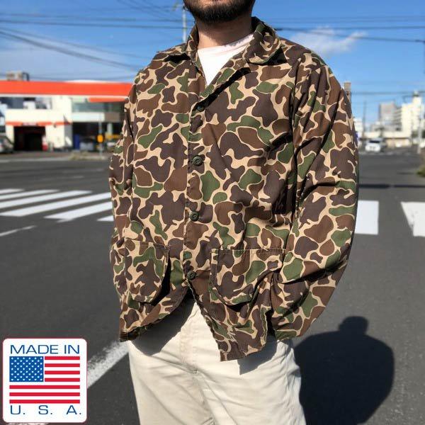 美品/90's/USA製/SAFTBAK/ダックハンターカモ/迷彩/ジャケット【L】ハンティング/アメリカ製/ビンテージ/D143