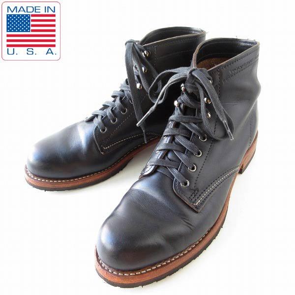 USA製/WOLVERINE/ウルバリン/1000マイル/ブーツ/黒【9D/27cm】プレーントゥ/ワークブーツ/1000MILE/D143