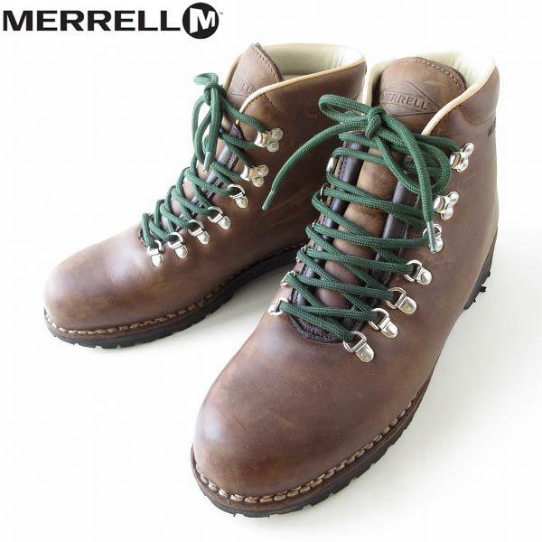 イタリア製/MERRELL/メレル/トレッキングブーツ/茶系【M11/29cm】マウンテンブーツ/大きいサイズ/メンズ/靴/D143