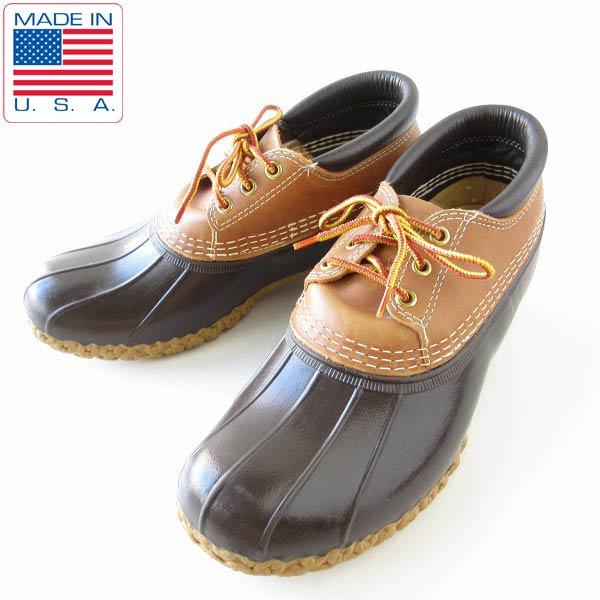 USA製/L.L.Bean/3ホール/ビーンブーツ/茶系【25cm】LLビーン/エルエルビーン/ガムブーツ/アメリカ製/メンズ/靴/D143