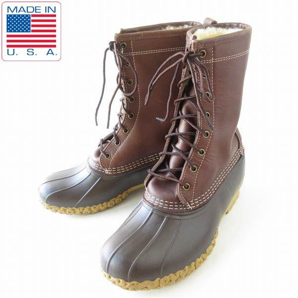 USA製/L.L.Bean/8ホール/ボア/シアリング/ビーンブーツ【メンズ26cm】エルエルビーン/アメリカ/定価3.5万円/靴/D143