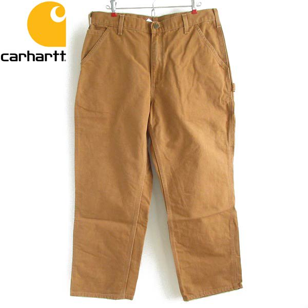 carhartt/カーハート/B11 BRN/ダック/ペインターパンツ/茶系【W36】シングルニー/ワークパンツ/D143