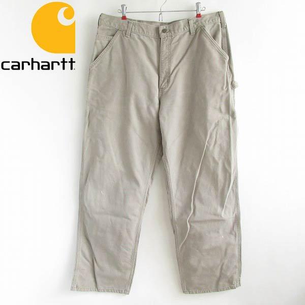 carhartt/カーハート/B11 DES/ダック/ペインターパンツ/カーキ系【W38】シングルニー/ワークパンツ/D143