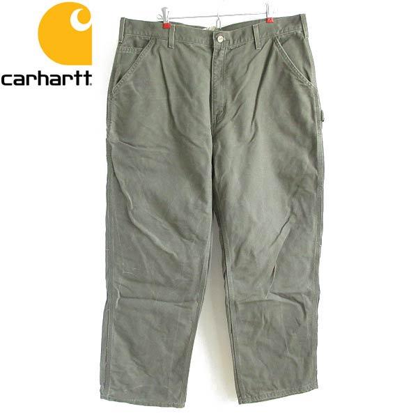carhartt/カーハート/B11 MOS/ダック/ペインターパンツ/緑系【W40】シングルニー/ワークパンツ/D143