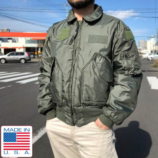 80's/USA製/実物/米軍/CWU-45/Pフライトジャケット【L】MIL-J-83388B/アラミド/ミリタリージャケット/アメリカ軍/ビンテージ/D143