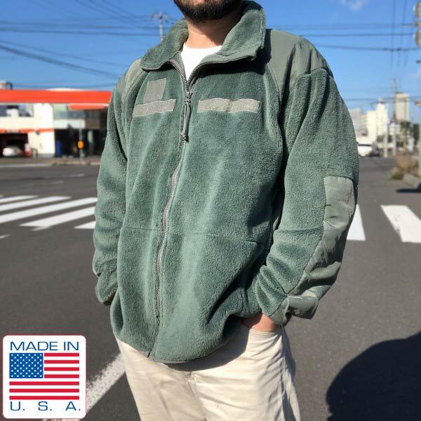USA製/実物/米軍/GEN3/Level3/フリース ジャケット/ポーラテック/緑系【L-R】軍物/アメリカ軍/ミリタリー/アメリカ製/D143