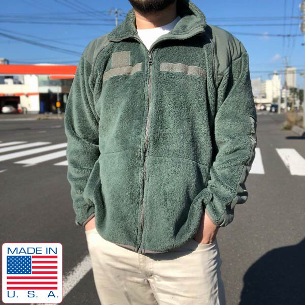 USA製/実物/米軍/GEN3/Level3/フリース ジャケット/ポーラテック/緑系【M-R相当】軍物/アメリカ軍/ミリタリー/アメリカ製/D143