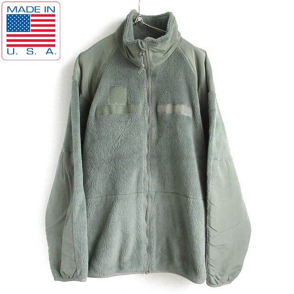 USA製/実物/米軍/GEN3/Level3/フリース ジャケット/ポーラテック/緑系【L-R相当】軍物/アメリカ軍/ミリタリー/アメリカ製/D143