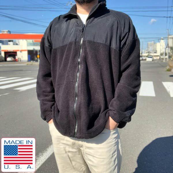 USA製/実物/米軍/US NAVY/フリース/ジャケット/黒【L-R】NWUゴアテックス パーカー ライナー/USN/アメリカ軍物/アメリカ製/D143