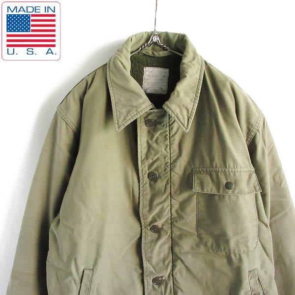USA製/実物/米軍/A-2/内ボア/デッキジャケット【L】N-1後継/ミリタリージャケット/アメリカ製/アメリカ軍/ビンテージ/D143