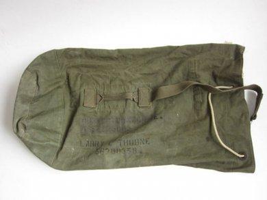 40〜50's頃米軍USステンシル入りキャンバスダッフルバッグ/D99