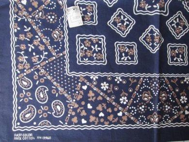 デッドFAST COLORクッキーバンダナ3色紺系×白×グレー系/D98