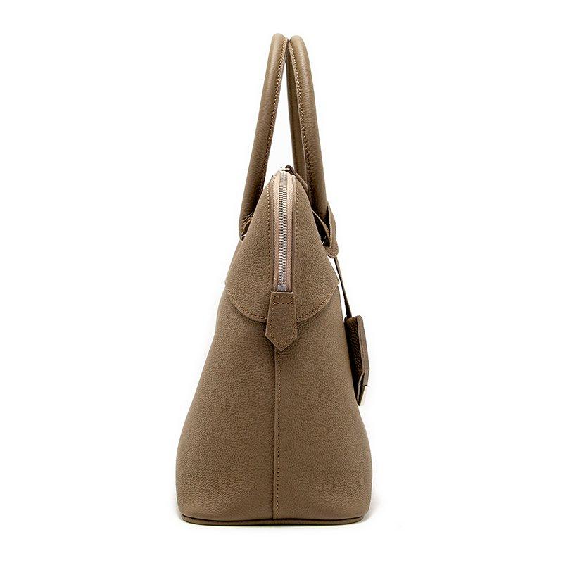 EMMA [OAK] シュリンクレザー・エスポワール 本革ハンドバッグ 日本製