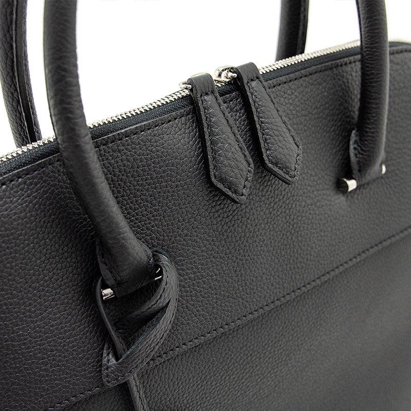 EMMA [BLACK] シュリンクレザー ハンドバッグ 日本製