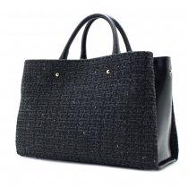 CLASSY-TW [GRAY] イタリア産ツイード 2WAYハンドバッグ