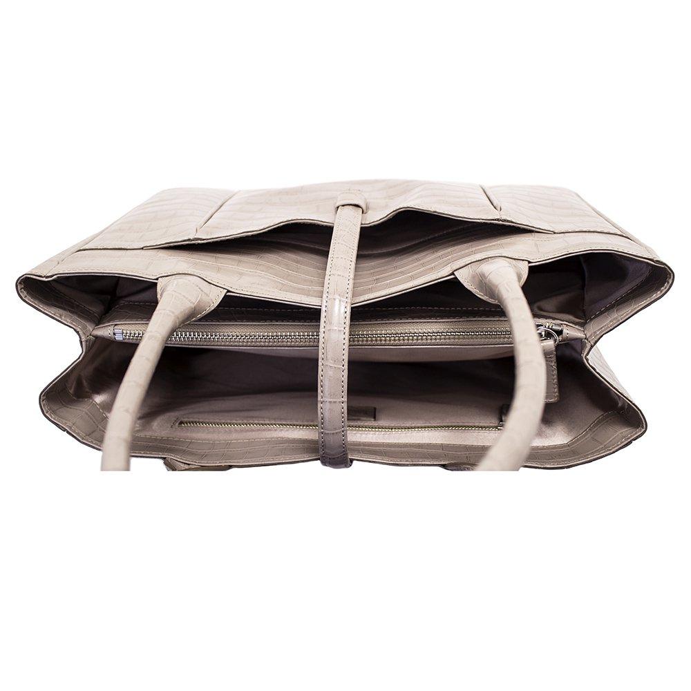 クロコ型押しトートバッグ ベージュ 日本製