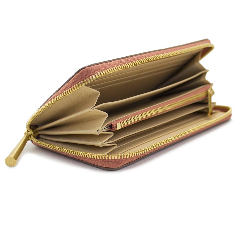 SAHO [TERRACOTTA] シュリンクレザー・エスポワール 本革ラウンドファスナー長財布 日本製