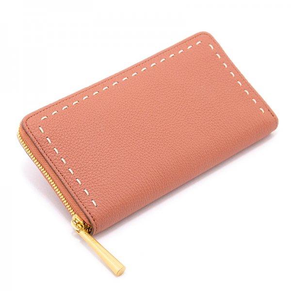 SAHO [TERRACOTTA限定色] シュリンクレザー 長財布