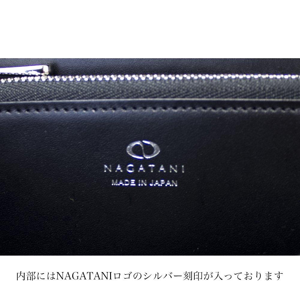 TWyla [NAVY] イタリア産ツイード ラウンドファスナー長財布 日本製