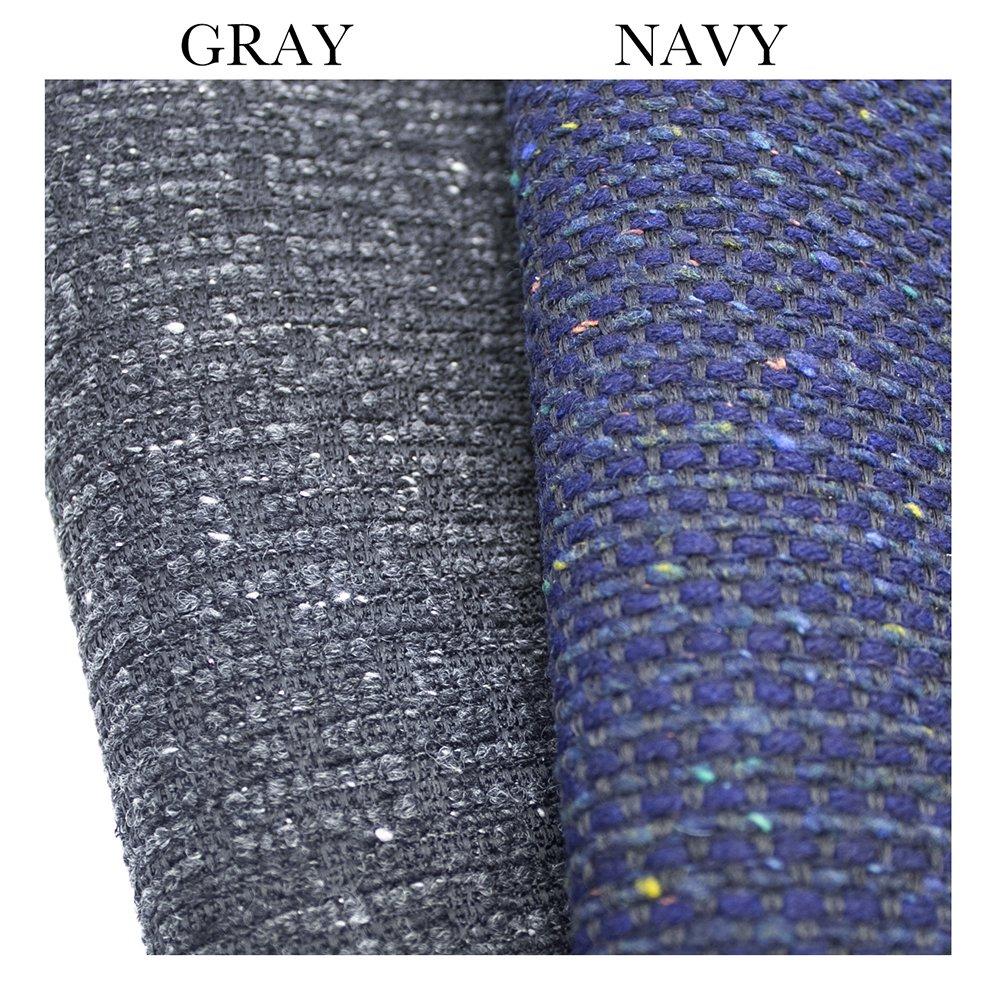 TWyla [GRAY] イタリア産ツイード ラウンドファスナー長財布 日本製