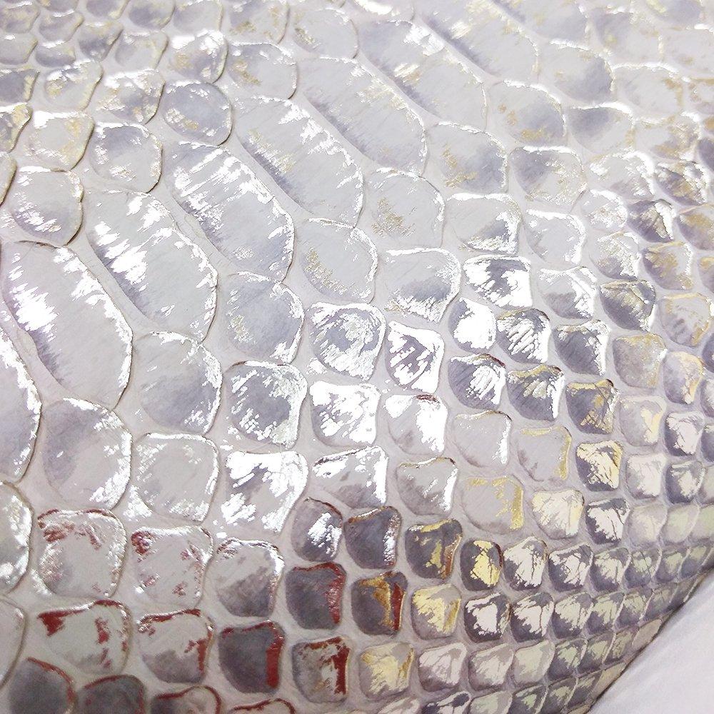 LEAF [SHINY-GREIGE] ダイヤモンドパイソン ラウンドファスナー長財布 日本製