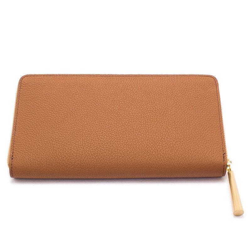 SAHO [CAMEL限定色] シュリンクレザー 長財布 日本製