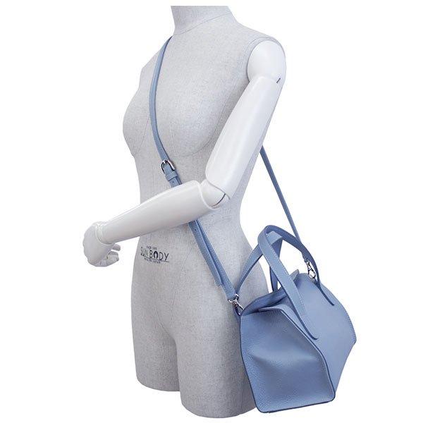MEGHAN 国産シュリンク2WAYバッグ [SAX BLUE] 日本製