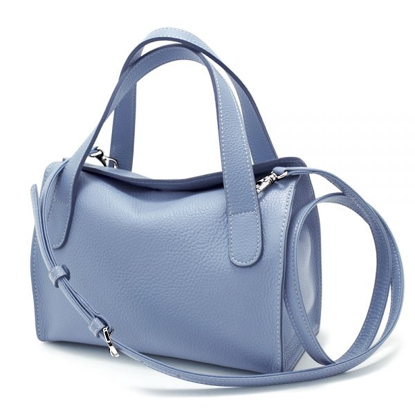 MEGHAN 国産シュリンク2WAYバッグ [SAX BLUE]