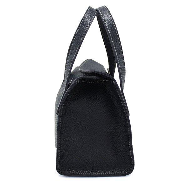 【予約販売商品】MEGHAN 国産シュリンク2WAYバッグ ブラック 日本製
