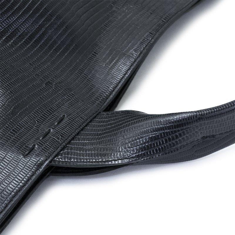 RAVIOLI [BLACK] リザード型押しレザー 本革トートバッグ 日本製