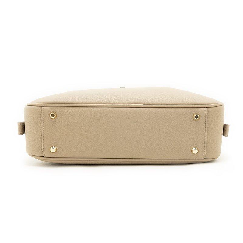 STEPHANIE [BEIGE] シュリンクレザー ハンドバッグ 日本製