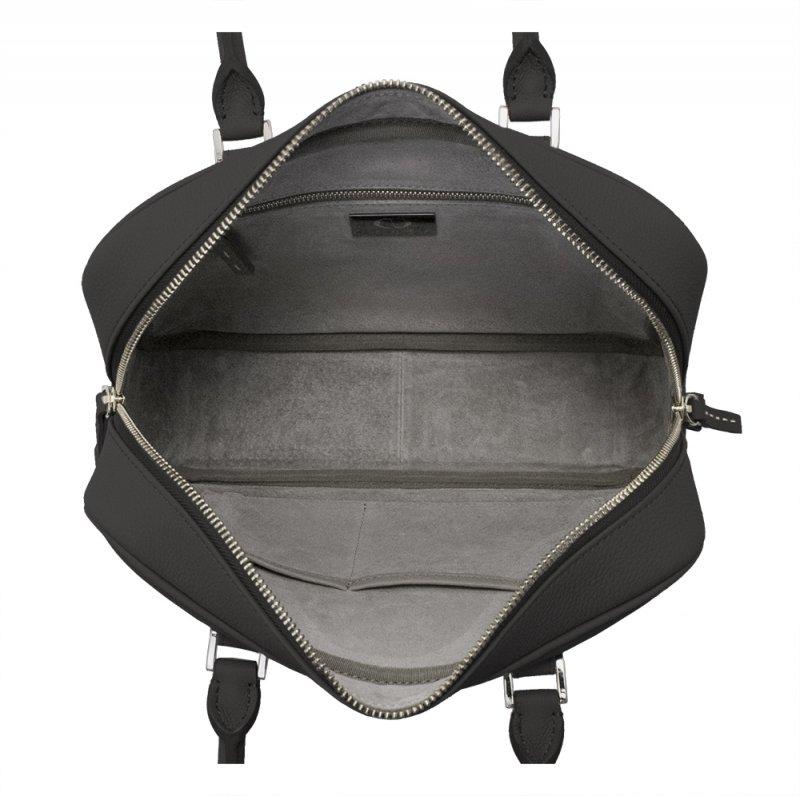 STEPHANIE [BLACK] シュリンクレザー ハンドバッグ 日本製