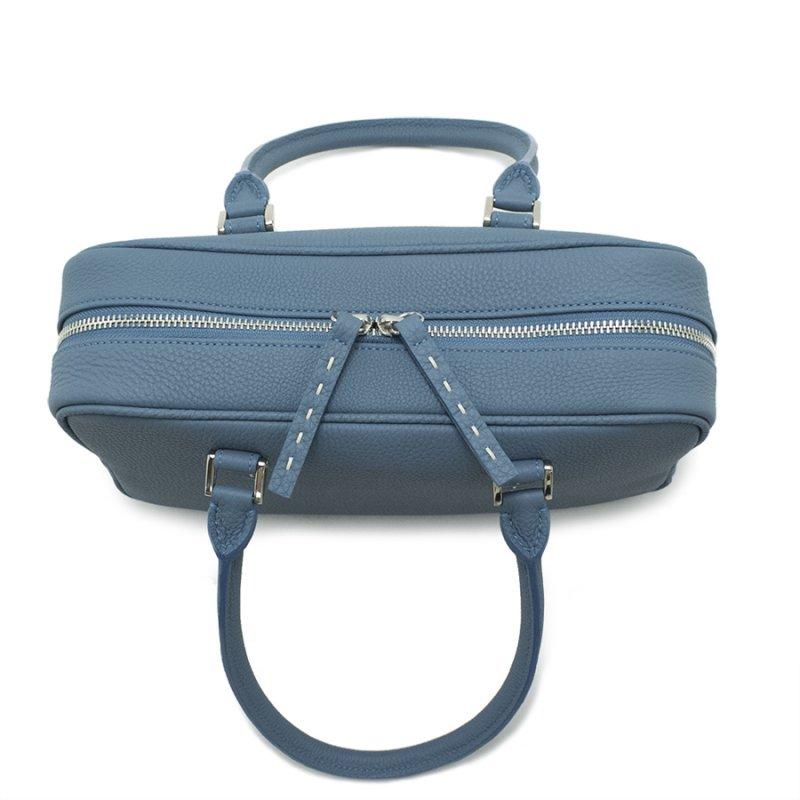 STEPHANIE [SKYBLUE] シュリンクレザー・エスポワール 本革ハンドバッグ 日本製