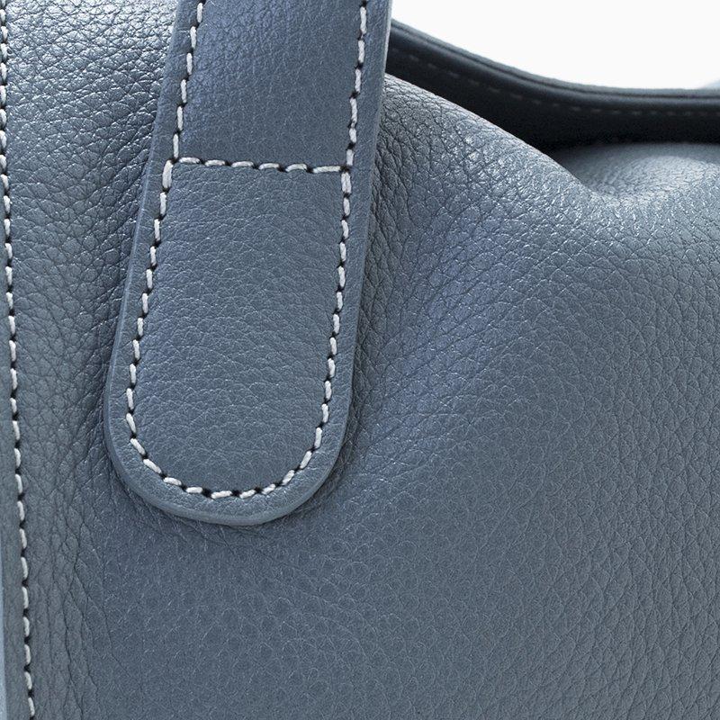 MEGHAN [BLUE-GRAY] 国産シュリンクレザー 本革2WAYショルダーバッグ 日本製